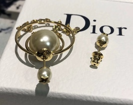 """Authentic Christian Dior """"DIOR TRIBALES"""" Earrings Gold Crystal Star Wasp Charms  image 6"""
