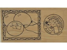"""Limited Edition-Large Wood Mounted Rubber Stamp-""""Birthday"""" Stamp to Personalize"""