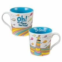 "Dr. Seuss ""Oh the places you'll go"" 12 oz Illustrated Ceramic Mug Style ... - $8.79"