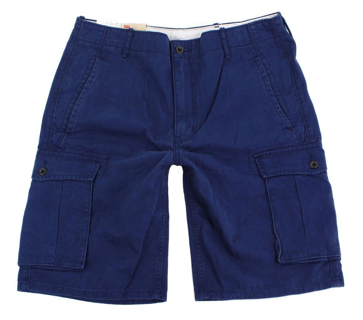 Levi's Men's Cotton Cargo Shorts Original Relaxed Fit Blue 124630160