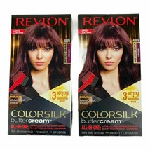 2 Boxes of Revlon ColorSilk Buttercream Permanent Hair Color #48BV Burgundy - $18.61
