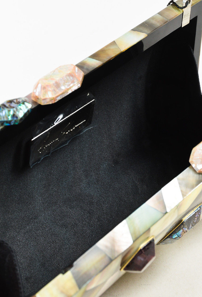 """Emm Kuo NWOT Multicolor Mother of Pearl """"Bondi"""" Clutch"""