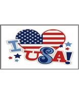 Patriotic US Flag I LOVE USA Refrigerator Magnet | MADE IN USA - $1.99+