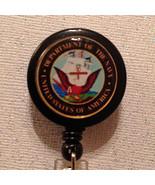 Navy Badge Reel Id Holder Lanyard Military Handmade Alligator Clip New - $8.99