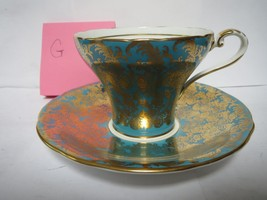 AYNSLEY TEA CUP AND SAUCER              G - $45.00