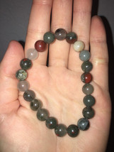 Grounding and Purification Handmade Natural Bloodstone Crystal Bracelet 8MM - $24.99