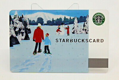 Primary image for Starbucks Coffee 2007 Gift Card Winter Walk Snow Mountain Zero Balance No ValueA