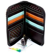 Chala Handbags Faux Leather Gen II Cat Brown Stripe Zip Around Wristlet Wallet image 3