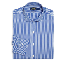 $145 Polo Ralph Lauren Slim-Fit Estate Striped Dress Shirt, Blue/White, ... - $49.49