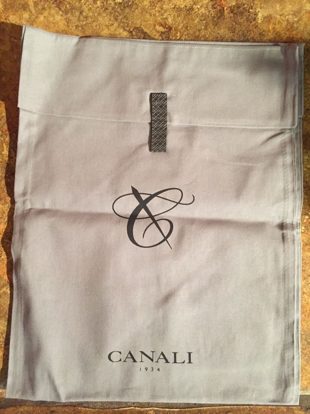 "Primary image for CANALI 12"" x 14"" Designer Logo Shoe Handbag Storage Sleeper Dust Bag"