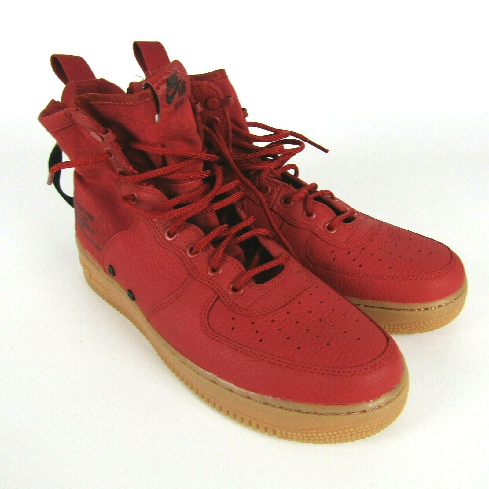 Nike SF AF1 Mid Dune Red Black Shoes Size 11 Men 917753 600 Air Force 1 Sneakers image 2