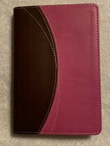 NIV Compact Thinline Bible Chocolate and Pink Italian Duo-Tone Cover  20... - $8.95