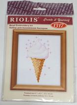 "RIOLIS Ice Cream Dessert Bead Embroidery Cross Stitch Kit #1317 NEW 4"" x 4"" - $9.99"
