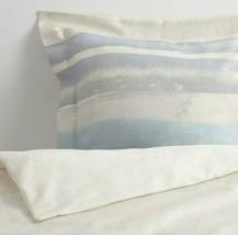 Ikea Alpdraba King Duvet cover 2 Pillowcases Blue Stripe Water Color New - $82.40