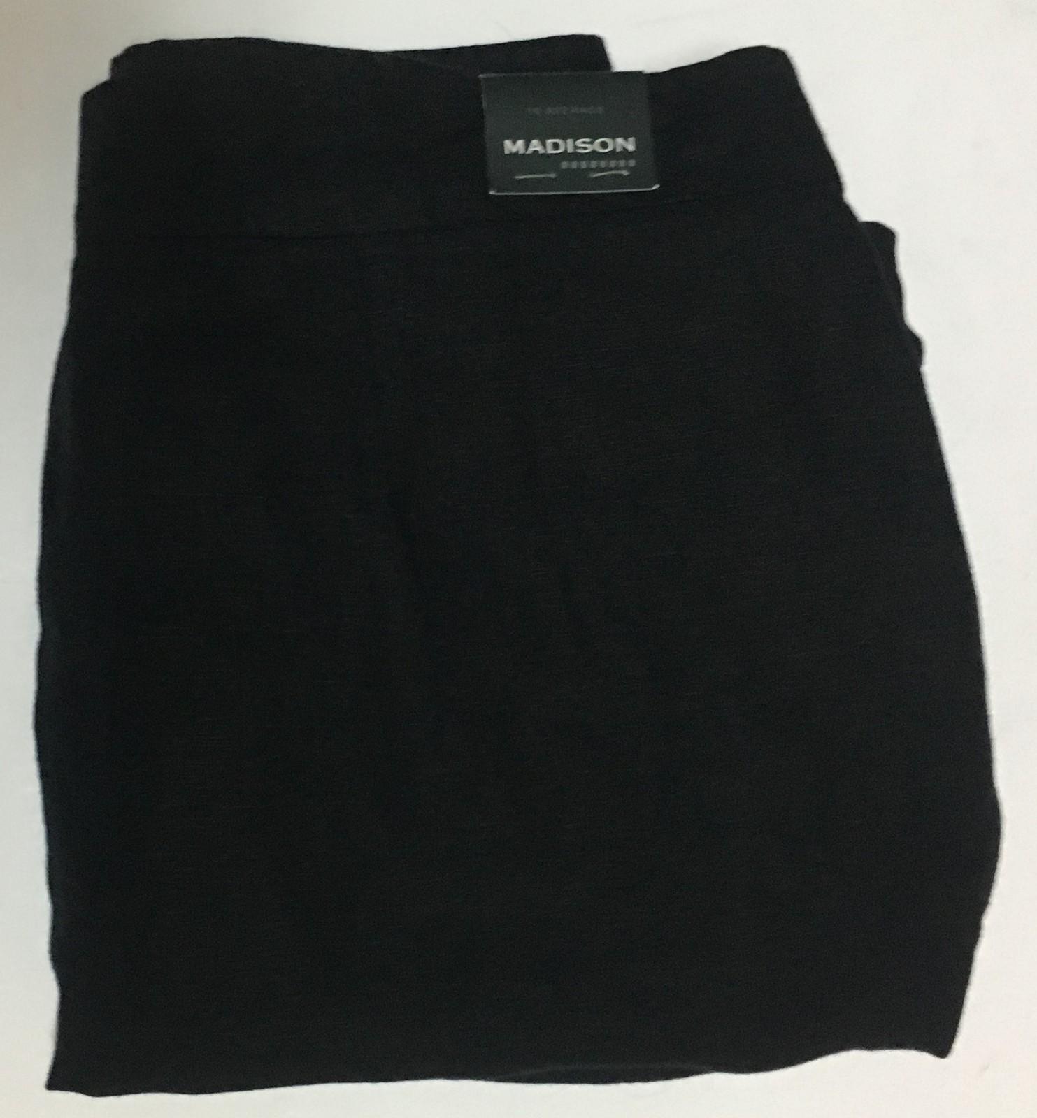 Madison Black Slacks Pants Flair Capri Linen Sz 16 R Casual or Dress