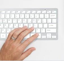 Actto Korean English Bluetooth Slim Keyboard Wireless Compact 10keyless (Silver) image 2