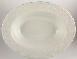 "Ralph Lauren Wedgwood Claire Oval vegetable bowl 9 "" - $90.00"