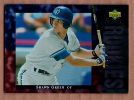 1994 Upper Deck #15 Shawn Green RC Toronto Blue Jays rookie mint cond. - $1.99