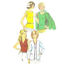 1970s Vintage Simplicity Sewing Pattern 5584 Misses Sleeveless Top Jacke... - $6.95