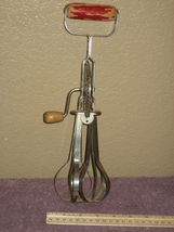 Vintage Ekco Products Company - A&J Stainless Steel Drive Egg Beater Wood Handle image 5