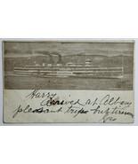 Old Undivided Postcard Steamer Hendrick Hudson, Hudson River Dayline, Ne... - $19.55