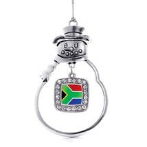 Inspired Silver South Africa Flag Classic Snowman Holiday Christmas Tree... - $14.69