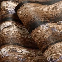 beibehang Retro Chinese imitation bark living room study background wood wallpap - $69.95