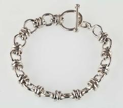 """Argent Sterling Multi Croix Bracelet Lien 8.25 """" Long - $202.70"""