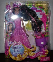 Barbie Endless Hair Kingdom Snap 'N Style Princess - Nikki Doll & Access... - $28.22