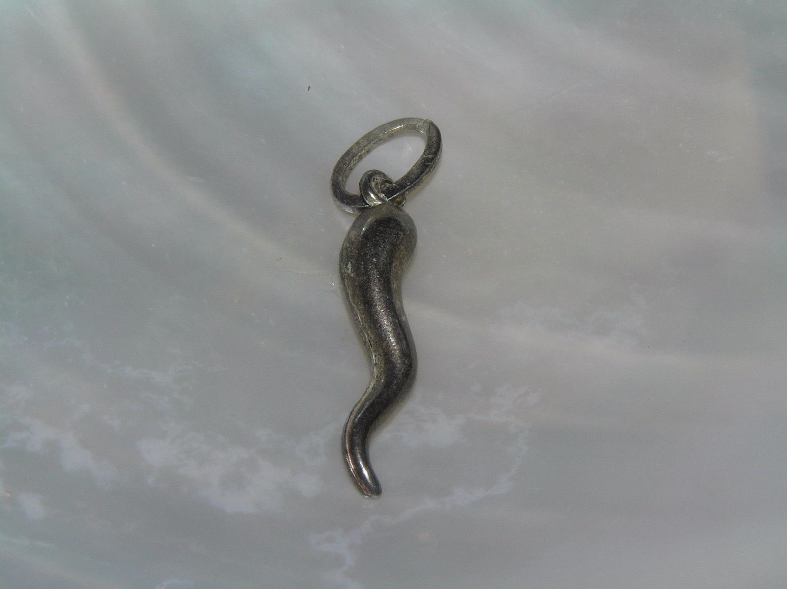 Primary image for Vintage Small 925 Marked Silver Hollow Twist Tail Charm or  Pendant – 1 x 3/8th'