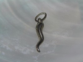 Vintage Small 925 Marked Silver Hollow Twist Tail Charm or  Pendant – 1 ... - $10.39