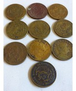 Lot of 10 VTG 1956-59 Mexico Cinco Centavos Mexican Coin - $44.55