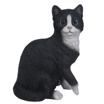 """Animal Collection Life Size Black and White Cat Figurine Statue 10 1/8""""Tall - $39.59"""