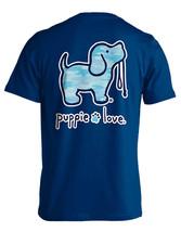 Puppie Love Rescue Dog Men Women Short Sleeve Graphic T-Shirt, Camo Pup