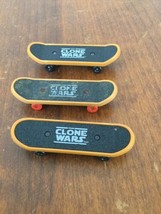 The Clone Wars Mcdonalds Toy Skateboards Finger Boards Lot - $7.91