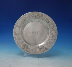 Gorham Sterling Silver Child's Plate w/Woodland Farm Animal Motif c.1910 (#5563) - $355.41