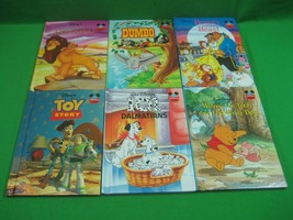 Lot of Six (6) Disney Children's Books Toy Story 101 Dalmatians Dumbo Li... - $23.33