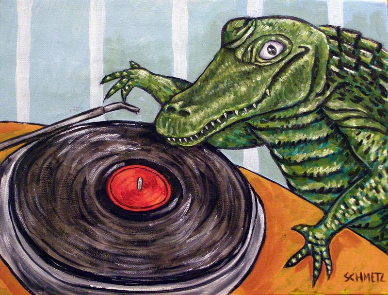 B020 16x20 alligator crocodile signed art print 11x17 glossy finish photo impressionism