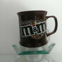 M&M's Milk Chocolate Ceramic Coffee Mug 3D Embossed Logo 2008 M&Ms Mars ... - $24.14