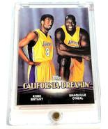 KOBE BRYANT & SHAQUILLE O'NEAL Topps CAL DREAMIN' Rare Duo Insert Card - $16.28