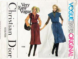 Vtg Vogue Paris Orig Christian Dior Misses' JUMPER Pattern #1756 Size 16 UNCUT image 1