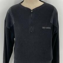 Harley Davidson Mens Henley Half Zip Long Sleeve Sweater Size XL Mechani... - $39.59