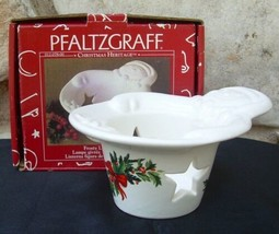 Pfaltzgraff USA Christmas Heritage Frosty Lite Snowman Candleholder New ... - $9.99