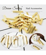DreamSailing® 10Pcs/lot Of 8/10/12/15mm Golden Nail Metal Rectangle Oblo... - $7.14