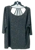 Maurices Women's Plus Black Gray Animal Print Short Sleeve Athletic Top ... - $14.85