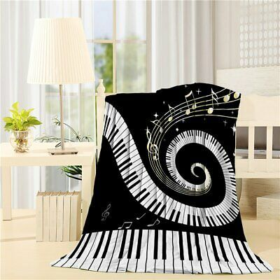 Primary image for Flannel Fleece Bed Blanket 40 x 50 inch Music Decor Throw Blanket Lightweight Co