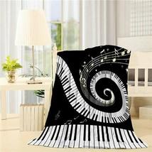 Flannel Fleece Bed Blanket 40 x 50 inch Music Decor Throw Blanket Lightw... - $51.99+