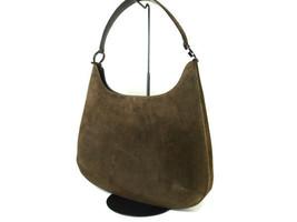 Authentic SALVATORE FERRAGAMO Suede Leather Khaki Shoulder Bag FS4859L - $120.00