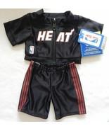 NEW Build A Bear Clothes Miami Heat Warm-Ups 2 pc - Zippered Jacket & Pa... - $21.99