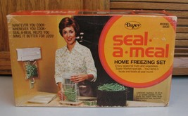 Dazey Seal A Meal Vintage Model 8000 Home Freezing Set w Box COMPLETE - $9.89